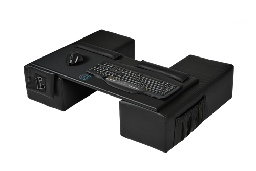 STEIGER DYNAMICS announces the COUCHMASTER Basic lapdesk designed for wireless mouse and keyboard