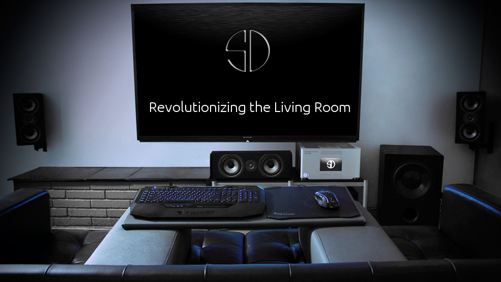 Steiger dynamics leet features htpc living room for Living room gaming pc
